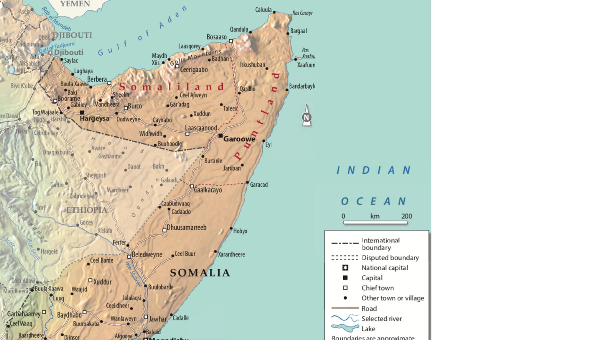 Map of Somaliland - OpenStreetMap
